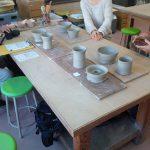ハーベストの丘で陶芸・電動ろくろ体験。